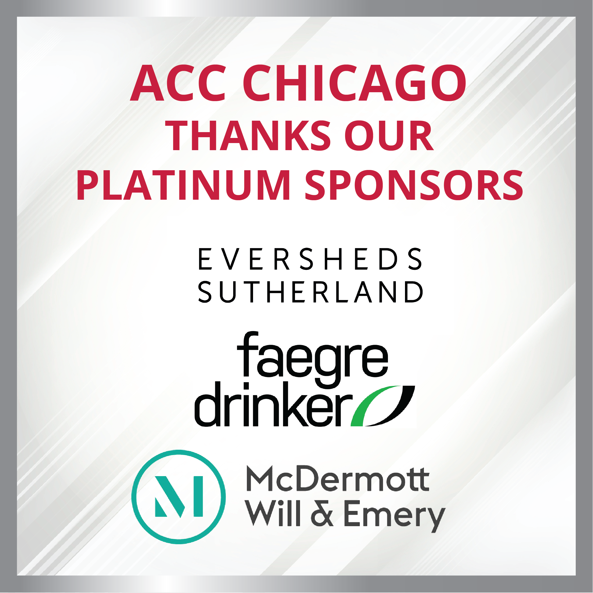 2021 & 2022 Chicago Thanks Our Platinum Sponsors